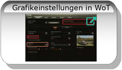 Grafikeinstellungen in WoT