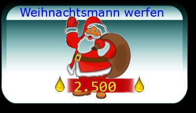 Weihnachtsmann werfen