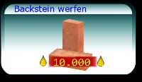Backstein werfen